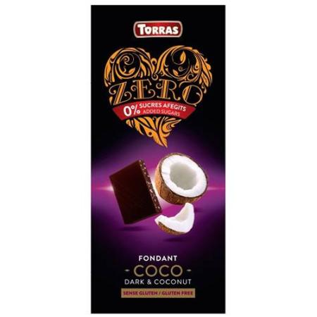 Chocolate negro con coco