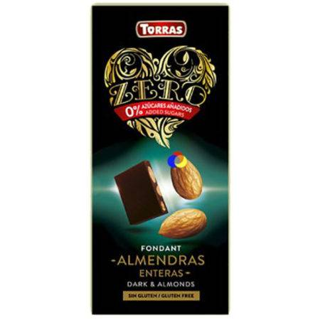 chocolate negro con almendras torres