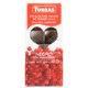 chocolate negro con arandanos