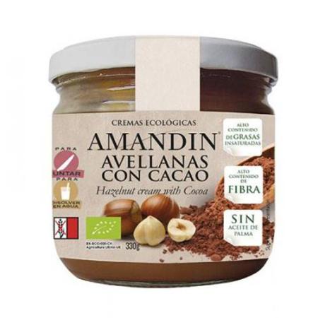 crema avellana y cacao amandin