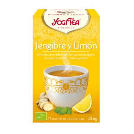 jengibre y limon yogi tea