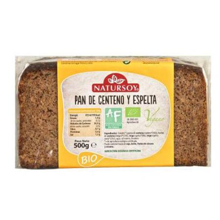 pan de centeno y espelta