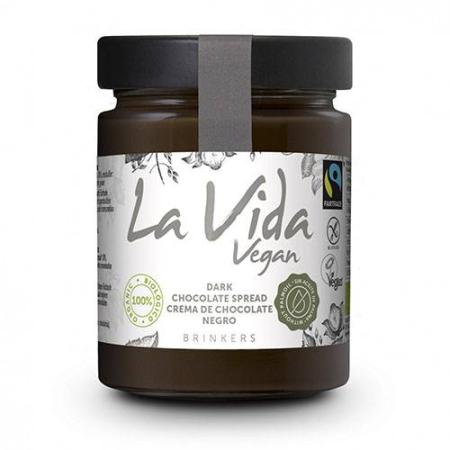 crema de chocolate negro, la vida vegan
