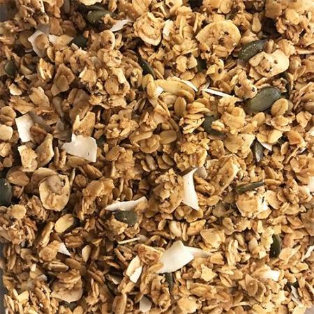 Granola coco, almendras y semillas