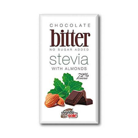 Bitter stevia almendra